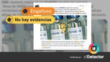 """¿Es cierto que los CDC reconocen que miles han muerto """"tras vacunarse"""" como dice un mensaje de redes sociales?"""