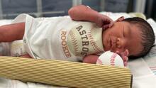 Bebés de Houston muestran su apoyo a los Astros rumbo a la Serie Mundial