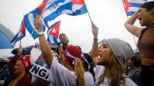 """""""Patria y vida"""": cubanos se manifiestan frente a la Casa Blanca en apoyo a las protestas en Cuba"""