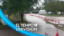 Servicios en centro de vacunación y pruebas de coronavirus en Houston, afectados por el mal tiempo