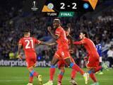 Napoli viene de atrás y rescata el  empate ante Leicester City