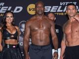 Evander Holyfield saca enorme ventaja en peso ante Vitor Belfort