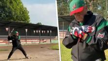 """""""Está panzoncito, pero tiene muy buena condición física"""": Admiran video en el que AMLO aparece jugando béisbol"""