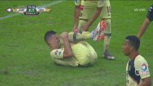 Mateus Uribe, de cabeza, casi pone el 3-1