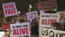 """""""Los queremos vivos"""": masiva protesta a favor de la huelga de hambre del movimiento San Isidro en Cuba"""