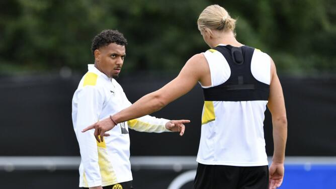 Haaland recibe al nuevo fichaje del Dortmund 'humildemente'
