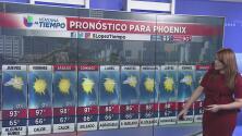 Sistema de alta presión trae condiciones calurosas y estables en Arizona