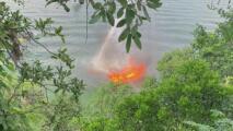 Bote explota en el Lago Austin y deja dos personas heridas