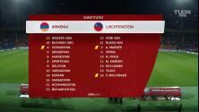 Resumen del partido Armenia vs Liechtenstein