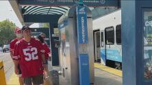 Fanáticos de los Raiders y 49ers marcan el reinicio del servicio del tren ligero del VTA