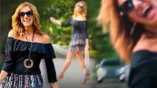 El video de Lili Estefan modelando en una calle donde te invita a ser feliz (sin que te atropellen)