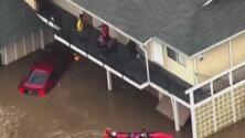 Residentes de San José se preparan ante posibles inundaciones provocadas por el río atmosférico