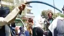 Imágenes sensibles: Con latigazos, los talibanes reprimieron una protesta de mujeres en Kabul