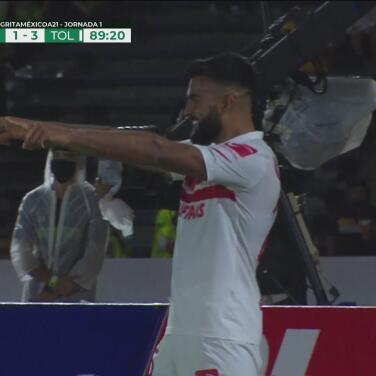 ¡Lo termina el goleador! Alexis Canelo anota el 1-3 de Toluca