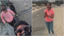 Queda captado en cámara un ataque de odio racial en una playa de California