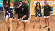 Detrás de cámaras: Francisca sí tiene buenas piernas y se lo demostró a Rodolfo Landeros