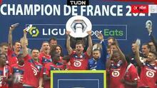 ¡Festejo a lo grande! Lille celebra título de la Ligue 1