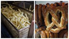 Las papas fritas y los pretzels pueden causar más caries que los dulces