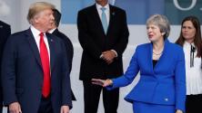 ¿Evita Theresa May otro saludo incómodo de Trump?