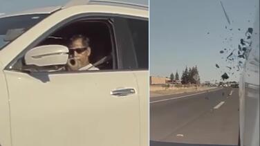 Arrestan a hombre que disparó proyectil hacia un auto en la autopista I-5