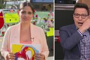 Entre lágrimas, Astrid y Raúl prometen entregar a J Balvin el dibujo de un joven artista que murió en Surfside