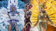 Un despliegue de fantasía y color:  Ceylin, Migbelis y Yaritza honran a sus antepasados en una impresionante pasarela