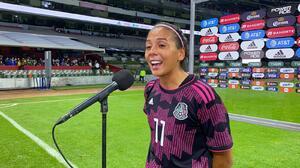 """María Sánchez: """"Soñaba con marcar un gol en el Azteca"""""""