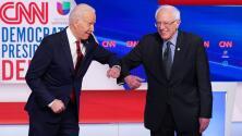 El lavado de manos y menos contacto físico: las medidas que Biden y Sanders toman para cuidarse del coronavirus