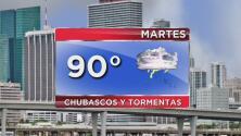 Cielo nublado, lluvia y tormentas para este martes en Miami