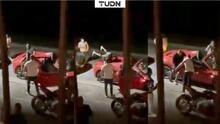 Pasado de copas, Arturo Vidal hace piruetas sobre lujoso Ferrari