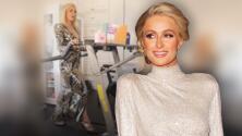 """""""Confiada y poderosa"""": la singular forma en que Paris Hilton se sube a la trotadora en tacones y vestida de gala"""