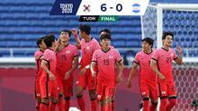 Honduras es aplastado por Corea y queda eliminado de Tokyo 2020