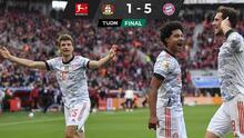 ¡Bayern es una aplanadora! Le mete cinco goles al Leverkusen