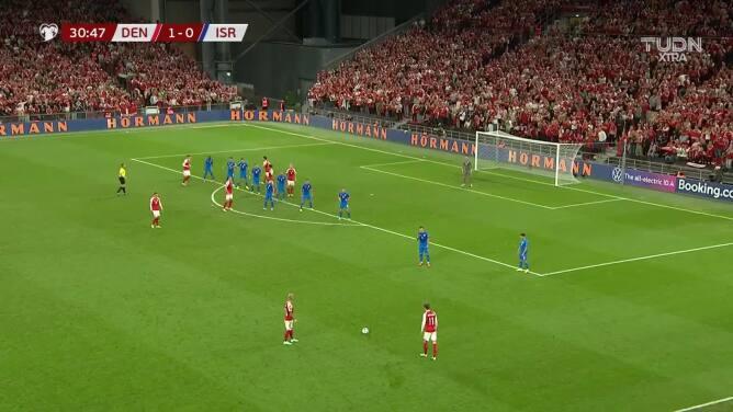 Cayó el segundo de Dinamarca: Simon Kjaer hizo el 2-0 de cabeza