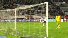 ¡GOL!  anota para Alemania. Timo Werner