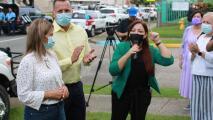 Residentes y alcaldesa de Morovis protestan por falta de agua potable