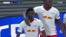 Con estos goles, el Leipzig está derrotando al Manchester United