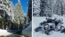 Tormenta invernal dejó acumulados de nieve por sobre las 18 pulgadas en el sector montañoso del Valle