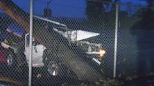 Un conductor causa apagón en Van Nuys tras chocar contra un poste de electricidad