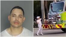 Este es el hombre que atacó a batazos un camión de bomberos de Miami-Dade