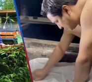 Julión Álvarez nos enseña cómo se lava la ropa en el rancho