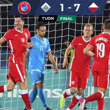 Resumen   Con doblete de Lewandowski, Polonia atropelló y aplastó a San Marino