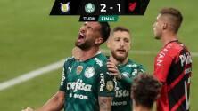 Palmeiras vence a Athetico Paranaense y toma el segundo lugar de la tabla