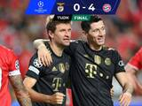 Con cuatro goles en 14 minutos, el Bayern venció al Benfica
