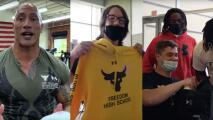 Dwayne Johnson sorprende a los estudiantes de sus antiguas escuelas y les da un regalo