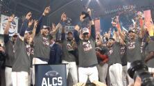 Los Astros de Houston festejan la clasificación a la Serie Mundial