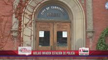 Abejas invaden estación de policía
