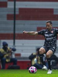 Alex Zendejas adelantó a Necaxa al minuto 52 y Toluca no se trada en reaccionar y empatan el encuentro al minuto 56.
