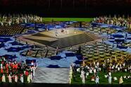 Artists perform during the closing ceremony in the Olympic Stadium at the 2020 Summer Olympics, Sunday, Aug. 8, 2021, in Tokyo, Japan. (AP Photo/Lee Jin-man)