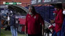 ¡GOL!  anota para Atlético San Luis. Nicolás Ibáñez